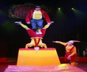Puzle Acrobatas Clowns