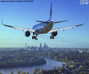 Puzle Aeronave à chegada ao seu destino