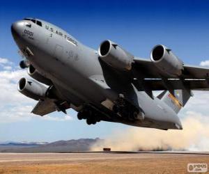 Puzle Aeronave militares da Boeing C-17 Globemaster III