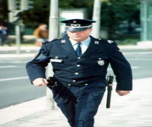Puzle Agente da polícia