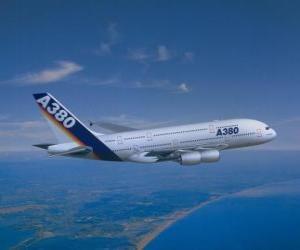 Puzle Airbus A380 é o maior avião do mundo