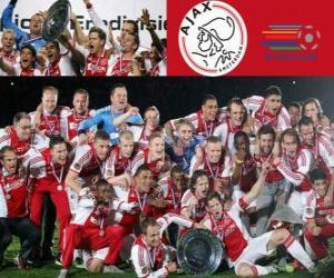 Puzle Ajax Amsterdão, campeão Eredivisi 2011-2012, liga de futebol dos Países Baixos