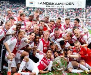 Puzle Ajax Amsterdão, campeão Eredivisi 2012-2013, liga de futebol dos Países Baixos