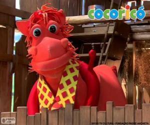 Puzle Alípio, o elegante cavalo da fazenda Cocoricó