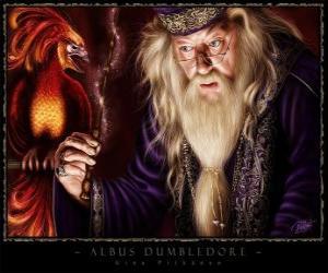Puzle Albus Dumbledore é o mago mais poderoso de toda a saga