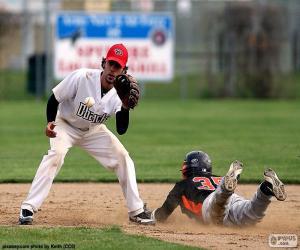 Puzle Alcance de beisebol a base
