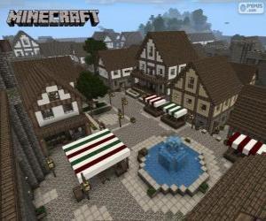 Puzle Aldeia de Minecraft