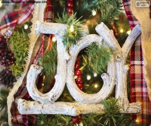 """Puzle Alegria para o Natal """"JOY"""""""