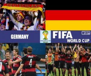 Puzle Alemanha comemora sua classificação, Brasil 2014