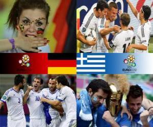 Puzle Alemanha - Grécia, quartas, Euro 2012