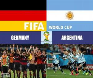 Puzle Alemanha vs Argentina. Final da Copa do Mundo FIFA Brasil 2014