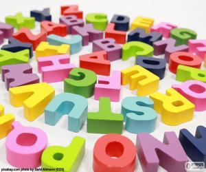 Puzle Alfabeto em espiral