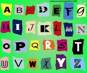 Puzle Alfabeto inglês