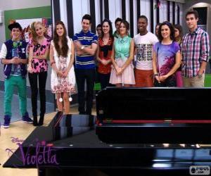 Puzle Alguns dos personagens de Violetta 2