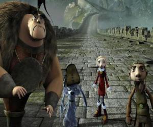 Puzle Alguns dos protagonistas das aventuras Gwizdo, Zoe, Hector e Lian-Chu