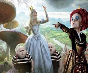 Puzle Alice, juntamente com os gêmeos ea Rainha Vermelha