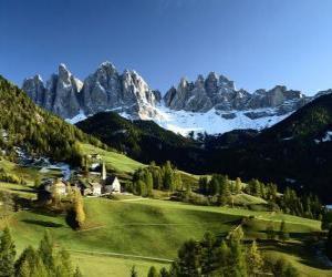 Puzle Alpes suíços
