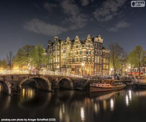 Puzle Amesterdão a noite, Países Baixos
