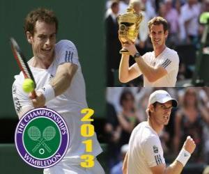 Puzle Andy Murray campeão de Wimbledon 2013