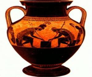 Puzle Ânfora grega decorada