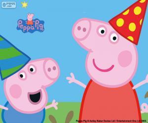 Puzle Aniversário da Peppa Pig