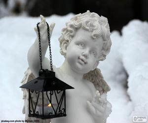 Puzle Anjo com lanterna