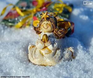 Puzle Anjo de Natal rezando