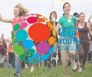 Puzle Ano Internacional da Juventude. Agosto 2010 - 2011. Nosso ano, a nossa voz