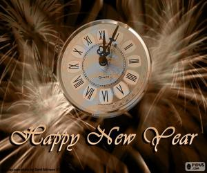 Puzle Ano novo relógio