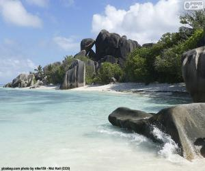 Puzle Anse Source d'Argent, Seychelles