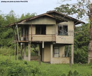 Puzle Antiga casa da floresta