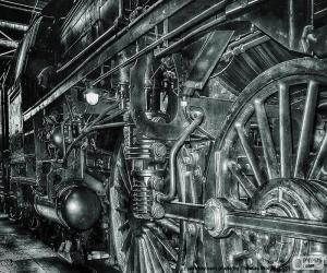 Puzle Antigo trem a vapor