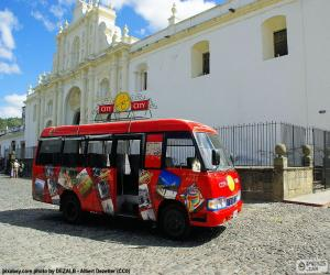 Puzle Antigua City Tour, ônibus