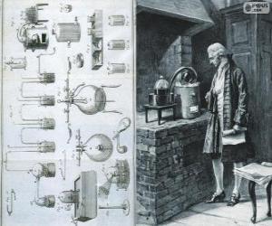Puzle Antoine Lavoisier (1743-1794), químico francês, considerado o criador da química moderna