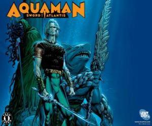 Puzle Aquaman era um dos membros fundadores da equipe da Liga da Justiça da América ou JLA