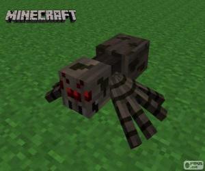 Puzle Aranha, uma das criaturas de Minecraft