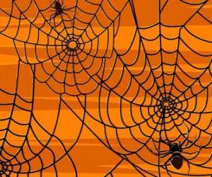 Puzle Aranhas de Halloween