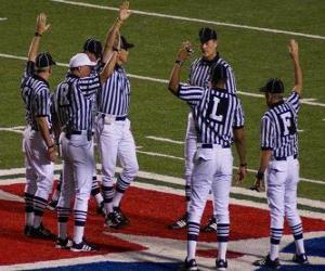 Puzle Árbitros de Futebol americano