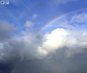 Puzle Arco-íris entre nuvens