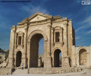 Puzle Arco de Adriano, Jordânia