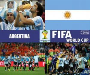 Puzle Argentina comemora sua classificação, Brasil 2014