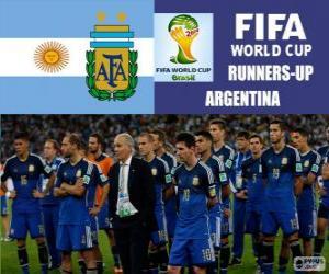 Puzle Argentina, segundo classificado do Copa do mundo de futebol Brasil 2014