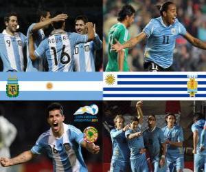 Puzle Argentina - Uruguai, quartas, Argentina 2011