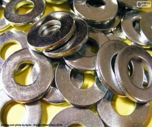 Puzle Arruelas ou anilhas de metal