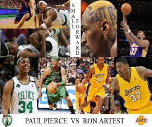 Puzle Artest NBA Final 2009-10, Eaves, Paul Pierce dos Celtics () vs Ron (Lakers)