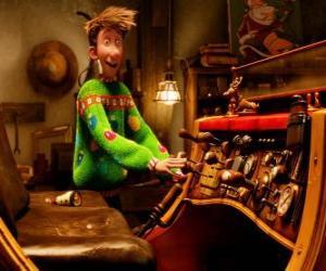 Puzle Arthur Christmas assistindo o velho trenó