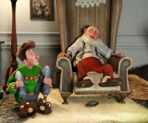 Puzle Arthur Christmas com seu avô