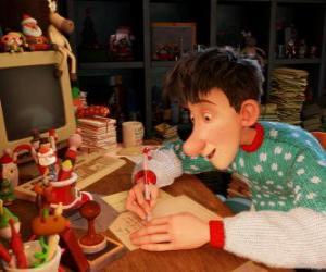 Puzle Arthur Christmas, responsável por responder às cartas de crianças do mundo