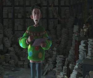 Puzle Arthur Christmas rodeado por milhares de cartas