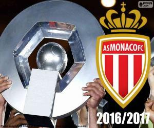Puzle AS Mônaco campeão 2016-2017